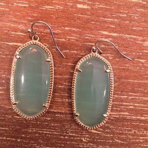 Kendra Scott Gold Elle in Mint green